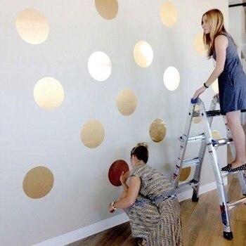 Gold Silver Black Polka Dots Wall Sticker Baby Nursery Stickers Kids Golden Polka Dots Decals Home DIY Vinyl Wall Art
