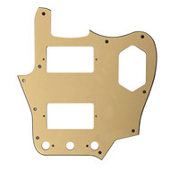 Pleroo Custom Guitar Parts Scratch Plate - For US Jaguar Guitar Pickguard With Paf Humbuckers Scratch Plate