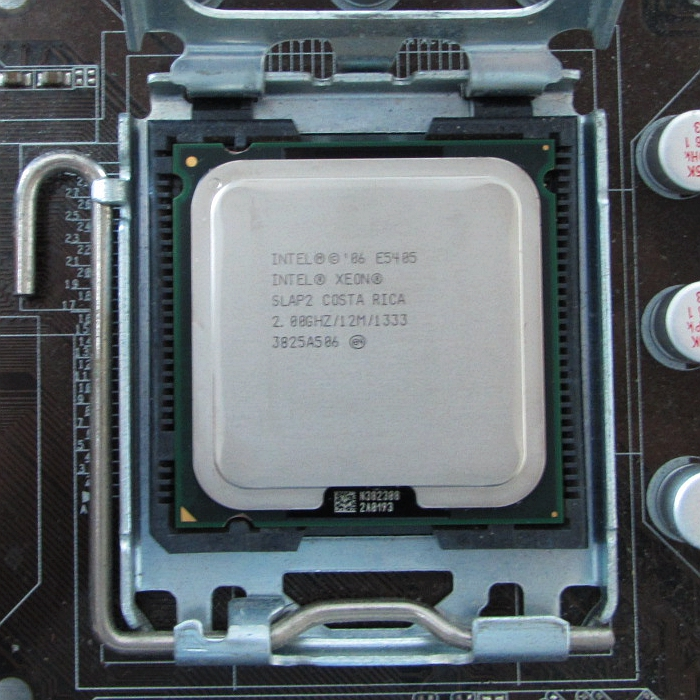 Intel Xeon E5405 Quad Core CPU 2 0GHz 12MB SLAP2 and SLBBP Processor Works on LGA Intel Xeon E5405 Quad Core CPU 2.0GHz 12MB SLAP2 and SLBBP Processor Works on LGA 775 motherboard