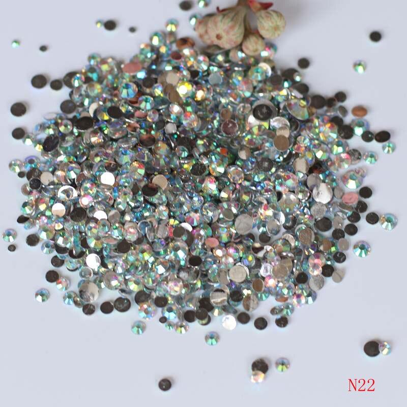 1000 unids Tamaño Mixto Acrílico Uñas Rhinestones Transparente AB - Arte de uñas - foto 1