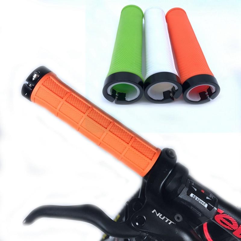 Bicycle Grips Non slip Grip Soft Aluminum PE Rubber Bike Handle Grip Riding Cycling Handlebar Grips