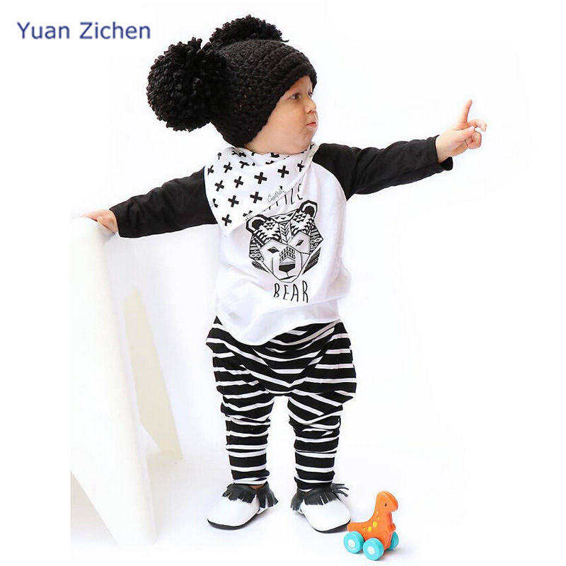 Costumes For Boy Long Sleeve T-Shirt Stripe Pants 2pcs Christmas Cotton Costumes Pullover Baby Boy Clothing For Kid Suit Snow