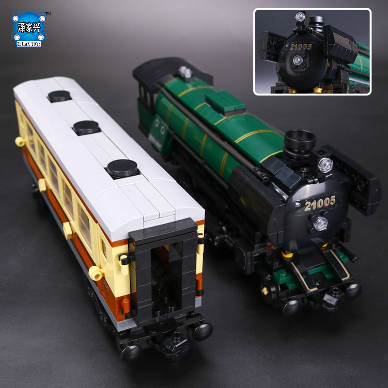 HOT Series The Emerald Night Model Building Blocks Set Classic Compatible LEPINS Steam Trains Toys Christmas Educational Gift 2016 new lepin 21005 creator series the emerald night model building blocks set classic compatible legoed steam trains toys