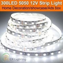Promotion Sale 5M Bande Flexible Rope Tape Luce White Room Night 5050 SMD LED Strip 12V Indoor Outdoor