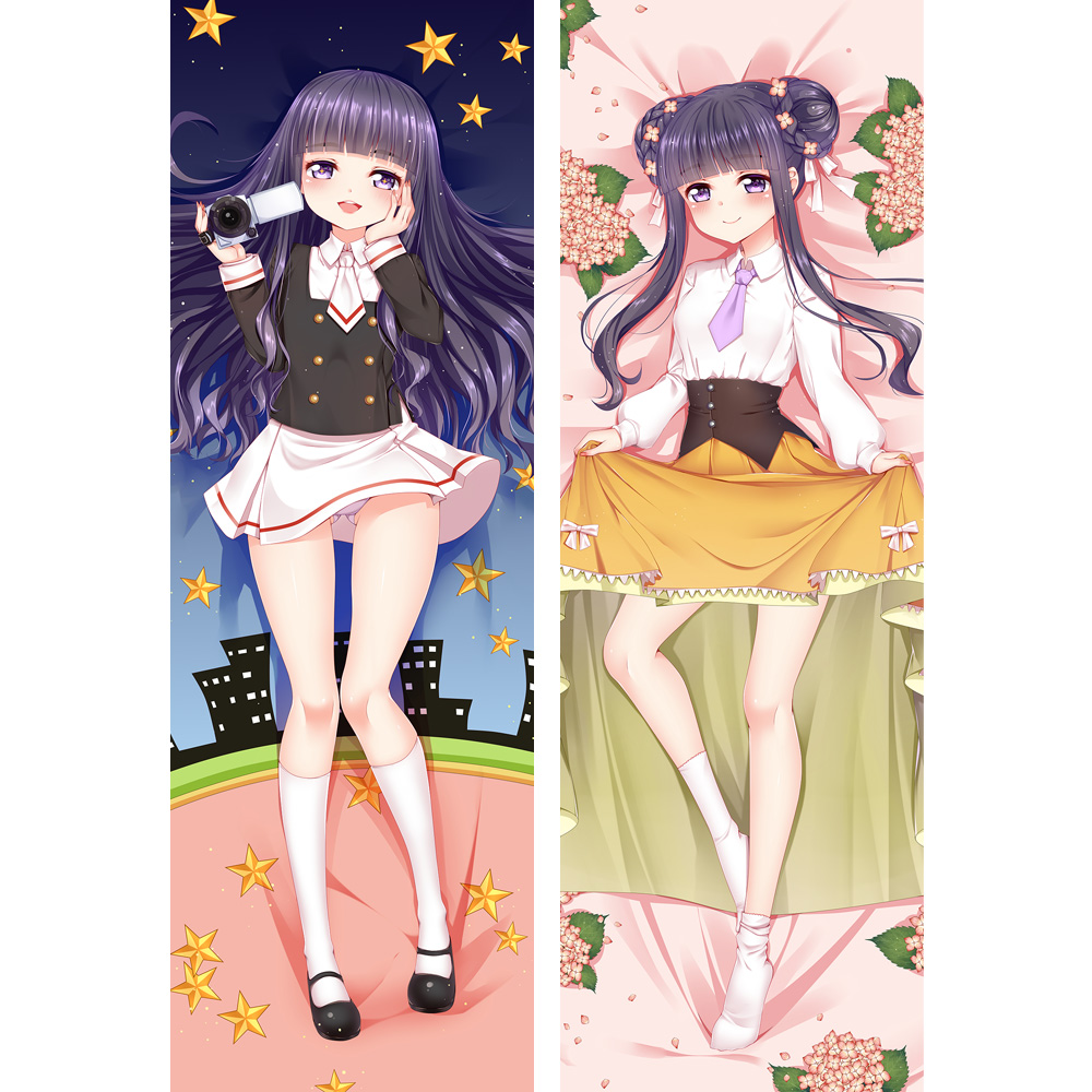 Hot Japanese Anime Dakimakura <font><b>Pillow</b></font> 60*180cm Cardcaptor Sakura DAIDOUJI TOMOYO Kinomoto Sakura Double Sided <font><b>Pillow</b></font> <font><b>Case</b></font> image