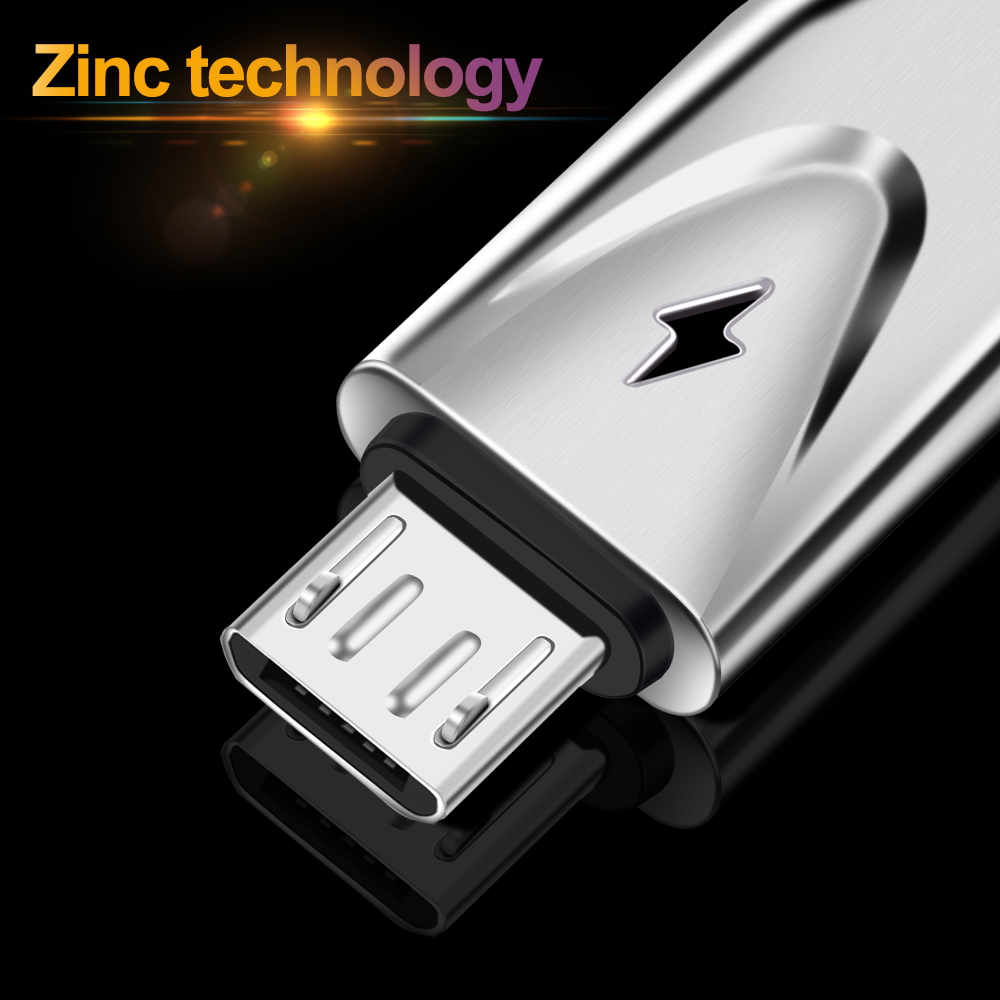 OLAF 3D Zinc 2.3A Micro USB Cable Fast Charging USB Data Cable for Samsung Xiaomi Tablet Android Cord Microusb Charger Cable