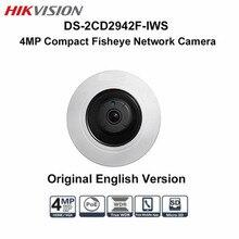 Hikvision Fisheye 4MP IP PTZ POE Camera DS-2CD2942F-IWS Onvif Audio Alarm 8m IR Night version CCTV Surveillance Dome Camera