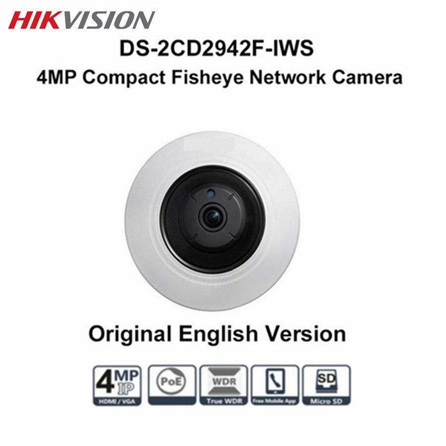 Hikvision Fisheye CCTV 4MP IP PTZ POE Camera DS-2CD2942F-IWS Onvif Audio Alarm 8m IR Night version Surveillance Dome Camera touchstone teacher s edition 4 with audio cd