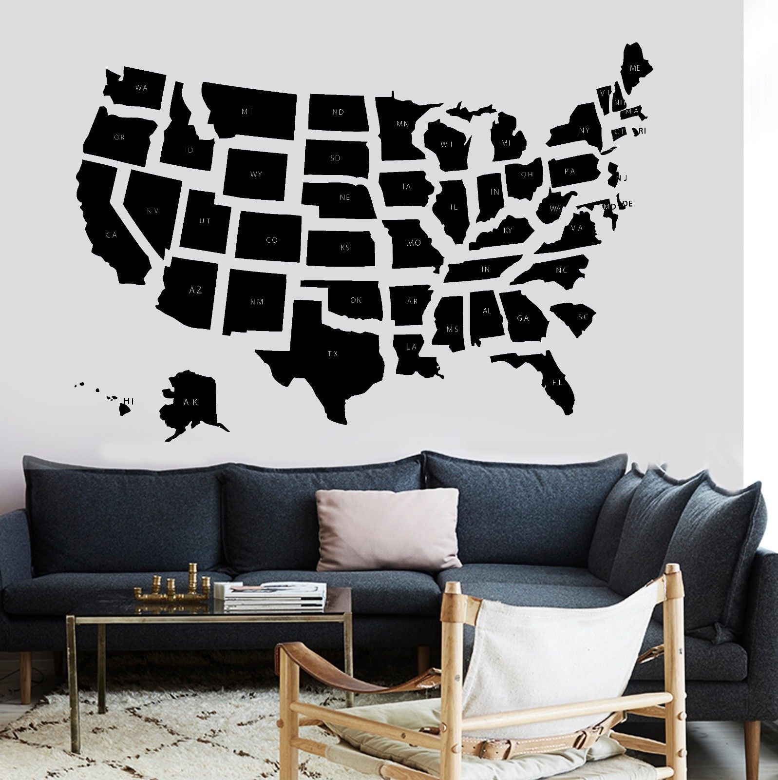 online get cheap usa map decal aliexpresscom  alibaba group - new popular home wall decal map usa premium quality school states vinylsticker free shipping(