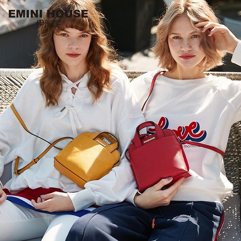 EMINI HOUSE Genuine Leather Shell Bag Crossbody Bags For Women Luxury Handbags Women Bags Designer Multicolor