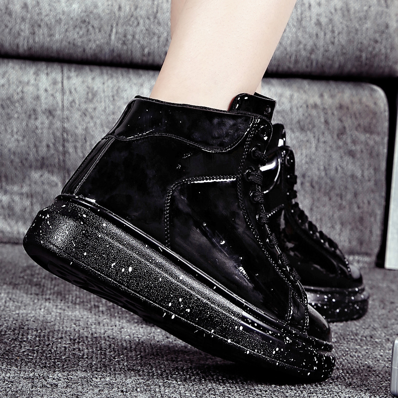 Image 4 - Moipheng Snow Boots Women 2019 Autumn Early Winter Thick Bottom High Upper Board Shoes Fashion Mirror Ankle Boots Lovers Shoes-in Ankle Boots from Shoes