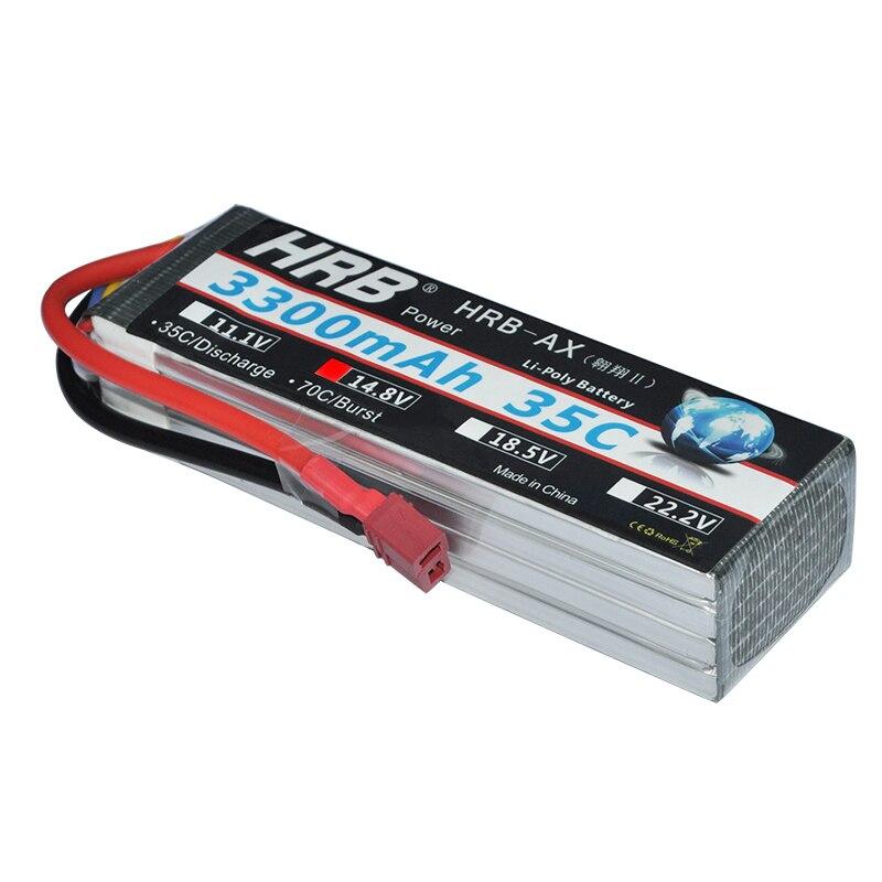 HRB RC Lipo Battery 4S 14 8V 3300mah 35C MAX 70C RC Bateria Drone AKKU For