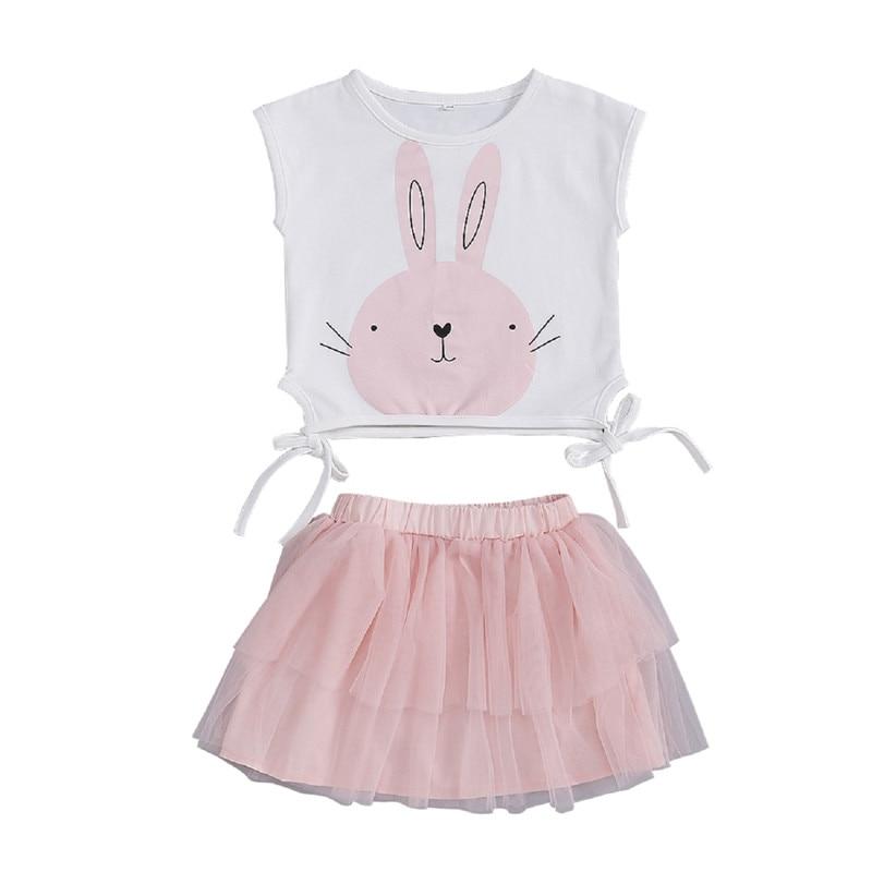Lace Up Toddler Kids Baby Girl Outfit Clothes Tank Top+Tutu Short Pants 2PCS Set
