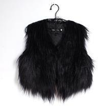 ddcfdf0fb307b Big Size Faux Fur Vest Vrouwen Mouwloze Korte Vest Vrouwen Winter Casual  Zwart Bont Vest Plus