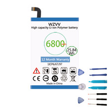 wzvv 6800mAh Li-Polymer Battery for Ulefone Power DOOGEE T6 DOOGEE T6 Pro Homtom HT6 Oukitel K6000 batteries(China)