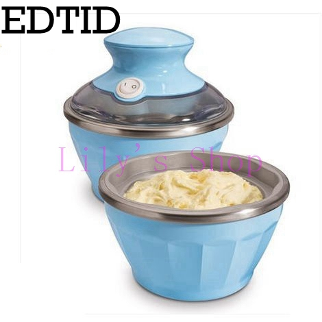Automatic household soft ice cream machine icecream making machine mini smoothie fruit icecream maker kitchen dessert tool 170ml square pan rolled fried ice cream making machine snack machinery