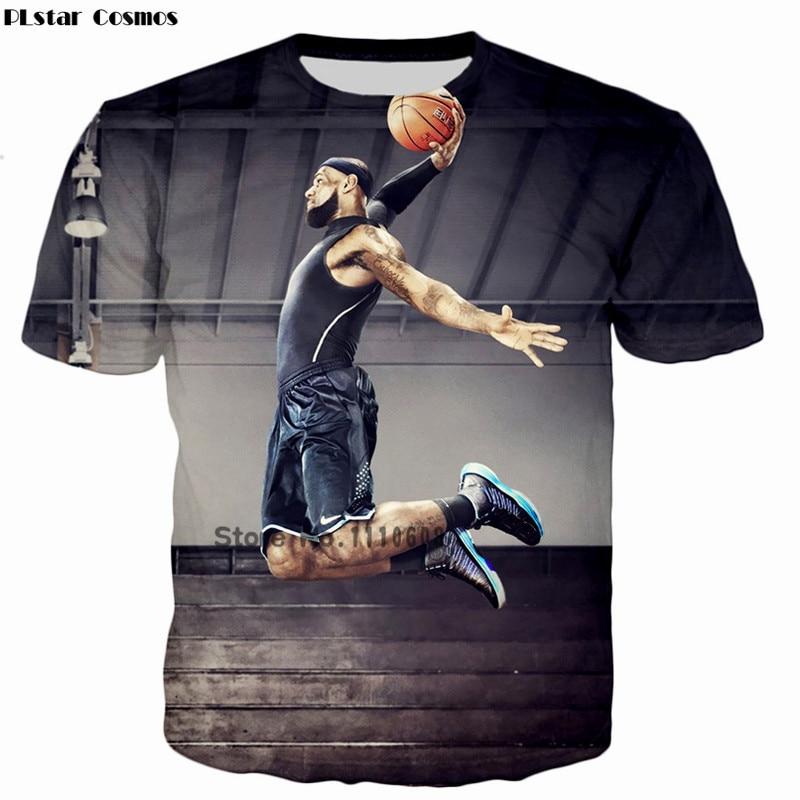 PLstar Cosmos cool summer fashion Women/Men Short sleeve t shirt Latest design star Lebron James Dunk 3D print casual tshirt