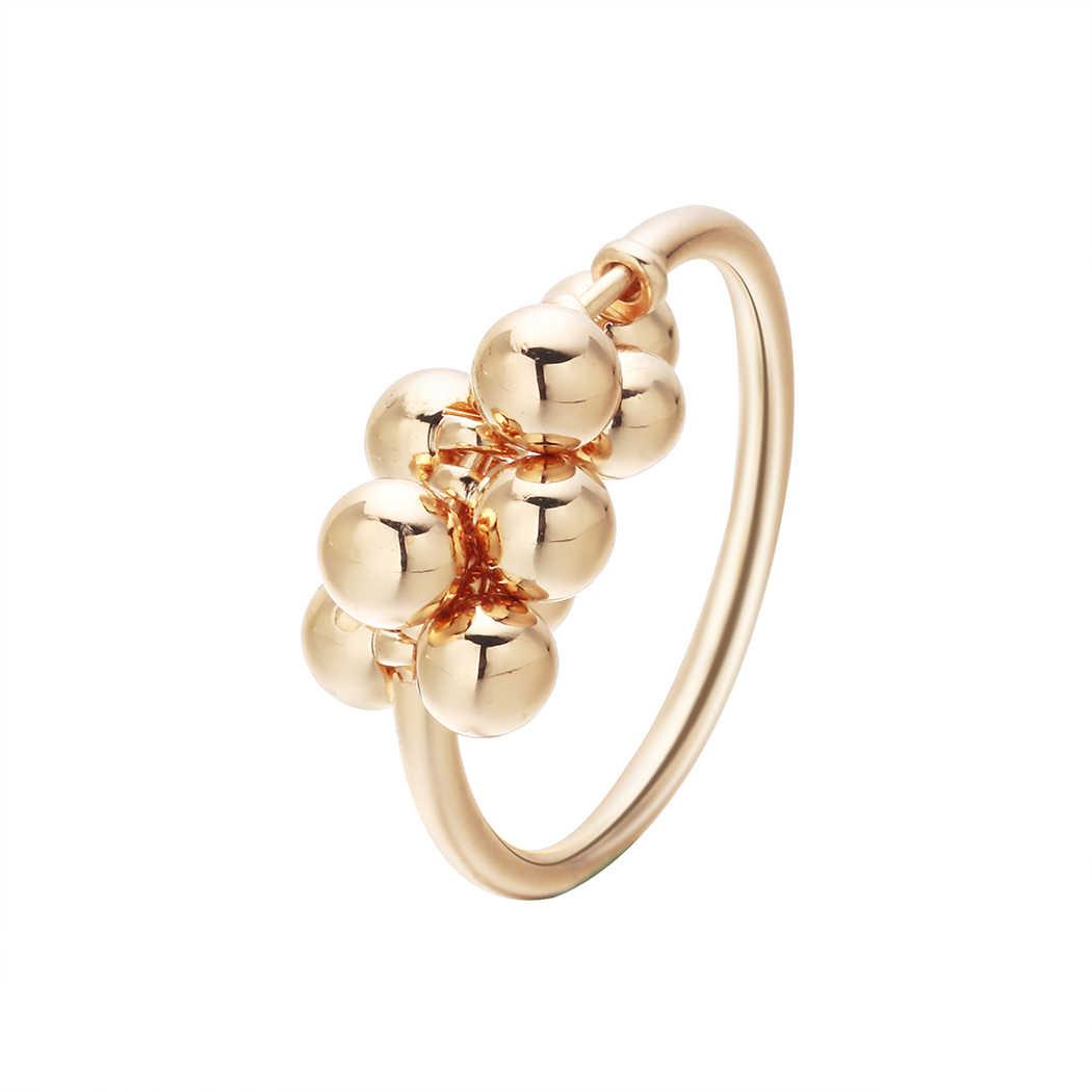 Todorova หญิงน่ารักลูกปัดจี้แหวนนิ้วมือทองสีแหวนหมั้นสำหรับงานแต่งงานแฟชั่นผู้หญิงที่ดีที่สุดของขวัญ
