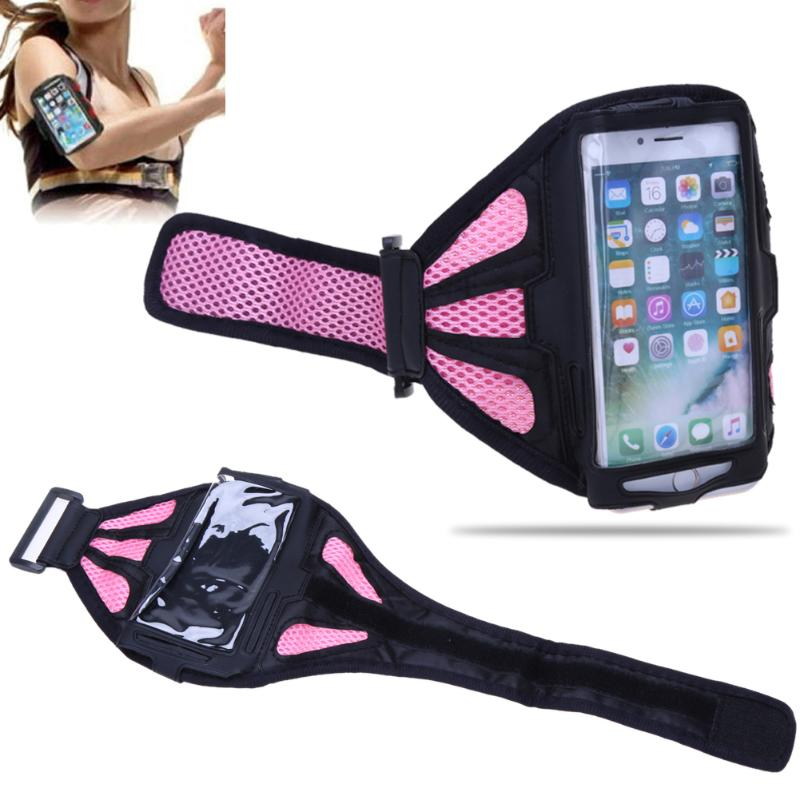 4.7/5.5inch Mobile Phone Case Bag Arm Band Breathing Waterproof Outdoor Sport Fitness Gym Hand Bag Phone Holder Running Armband цена