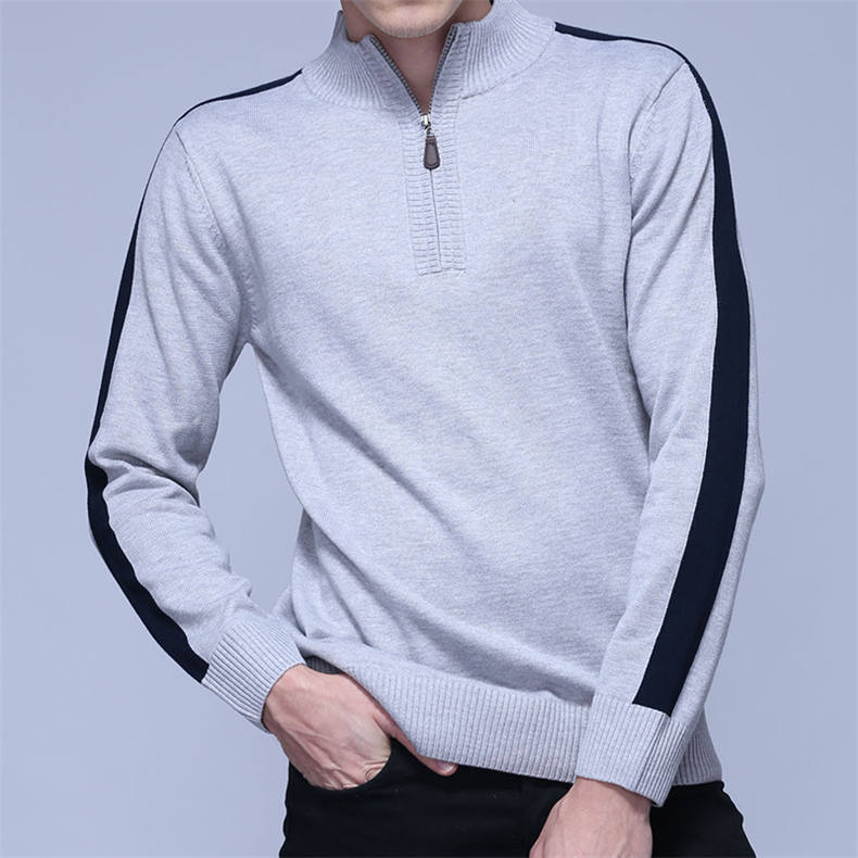 2018 MuLS Brand Half Zipper Sweater Men Quality Spring High Neck Male Pullover Thick Cotton Turtleneck Jumper Autumn Men Sweater-03