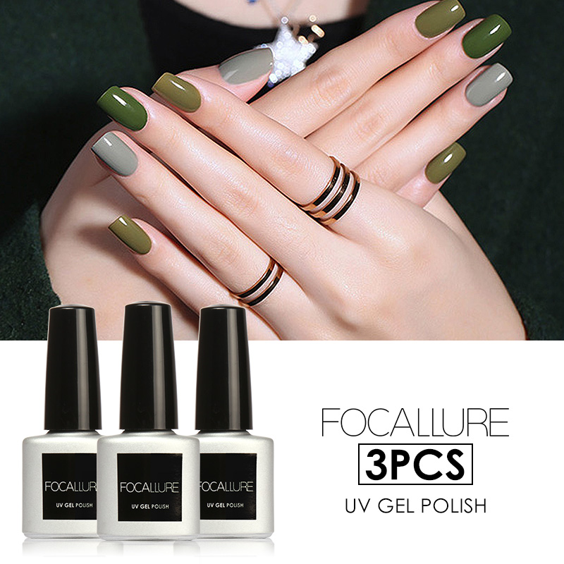 FOCALLURE 3Pcs/Lot Gel Nail Polish UV Gel Polish Long lasting Soak ...