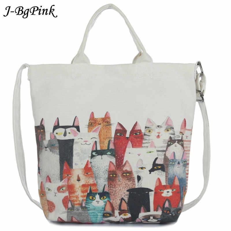 c1efc3d6a671 J-Bg розовая сумка на плечо с рисунком кота женская большая емкость женская  сумка для