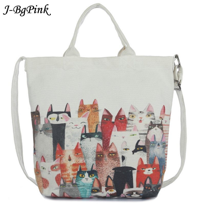 J-Bg pink cartoon cat shoulder bag ladies large capacity female shopping bag canvas handbag summer beach bag lady miyahouse cute cat printed beach bag women large capacity shopping bags vintage female single shoulder bag canvas ladies handbag