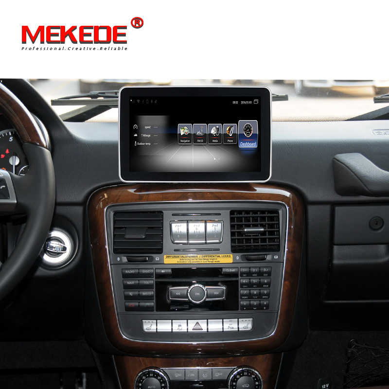Mekede ANDROID car stereo gps navigation radio for Mercedes Benz G Class W461 2012 2013 2014 2015 3GB RAM 32GB ROM 4G wifi BT