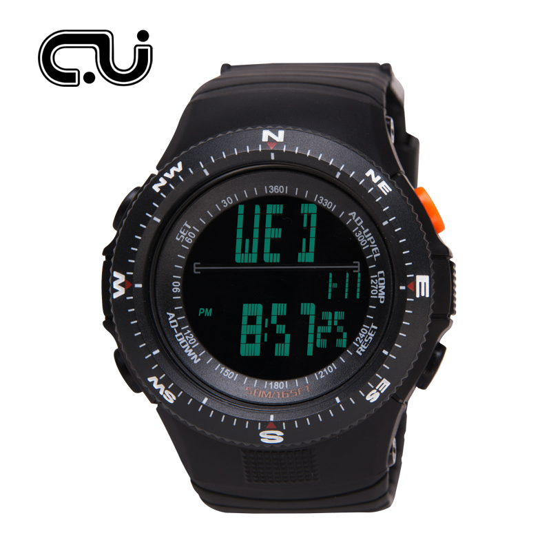 CU Brand Men Sports Watch Alarm Military Digital LED Watches Fashion Multifunctional Casual Wristwatches цена 2017