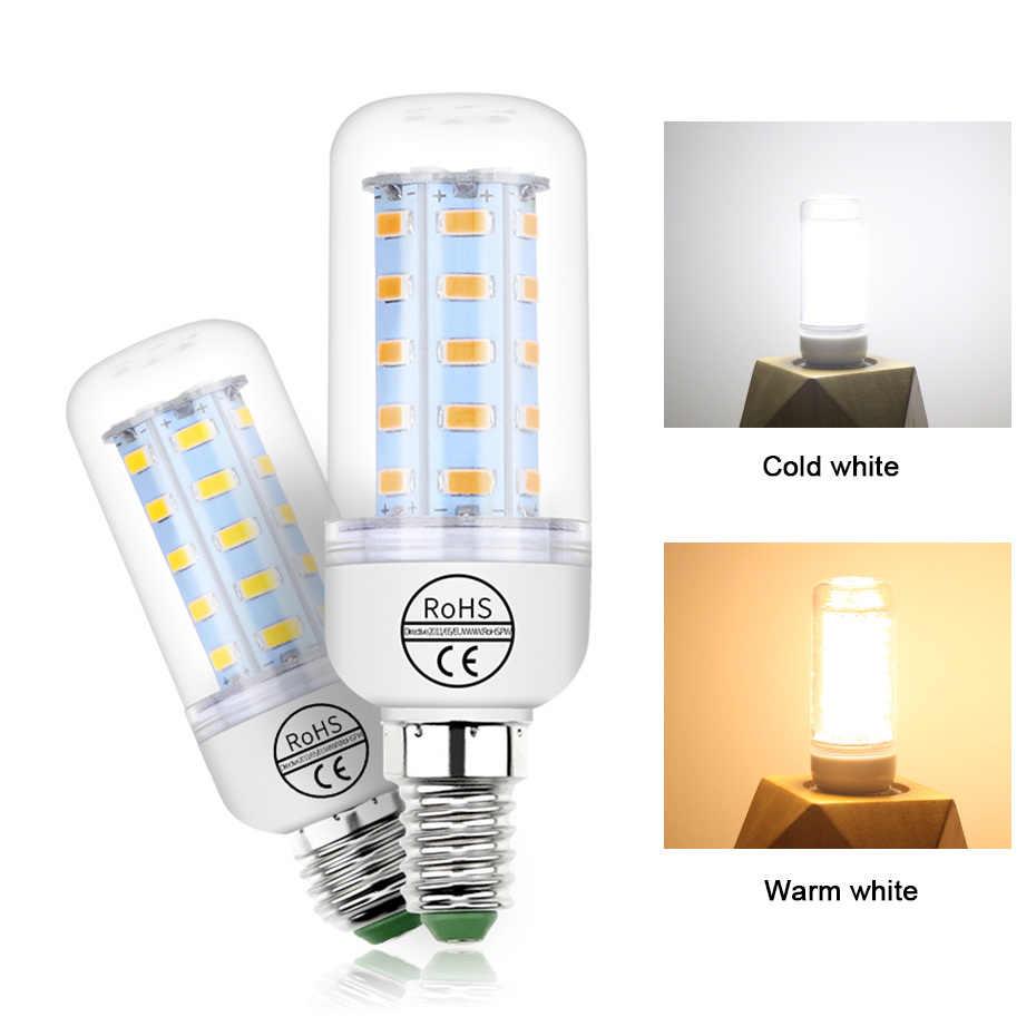 LED Bulb E27 220V SMD 5730 Led Light E14 24 36 48 56 69 72 LEDs Corn Bulb Chandelier For Home Indoor Lighting LED Bulbs Lamp