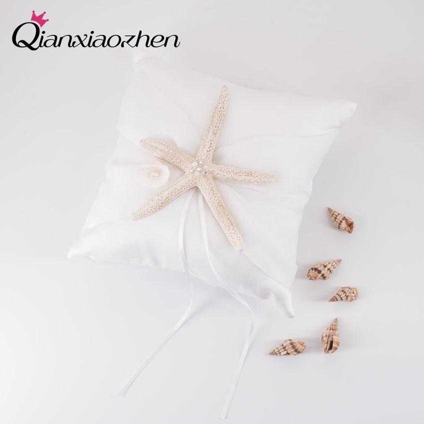 Qianxiaozhen 2020cm Beach Starfish Wedding Ring Pillow Wedding
