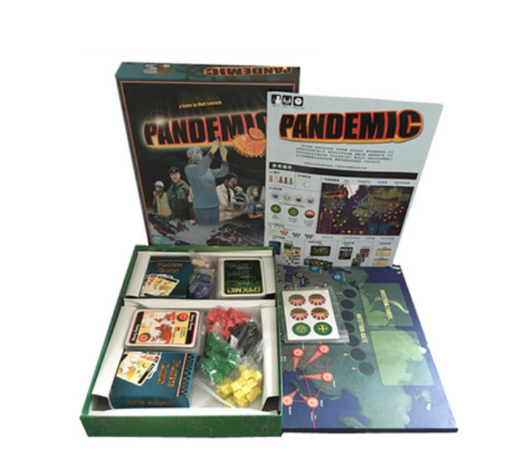 Pandemic Board Game Paper Cards Strategic Reasoning Plague Funny Party Indoor Table Game for Family Board Games