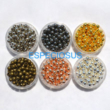 100pcs/lot Cord End Beads Ornaments Alloy Round Beads for Necklace And Bracelet chain DIY Jewelry Findings Metal Accessories(China)