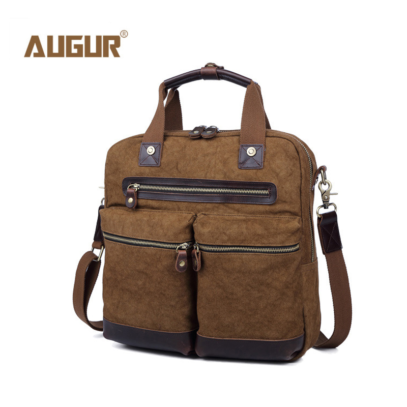 AUGUR New Fashion Men Shoulder Crossbody Bag High Quality Canvas Casual Travel Laptop Bags For Men Designer Satchels Handbags augur casual men messenger bags high quality oxford waterproof man shoulder bag luxury brand crossbody bags designer handbags