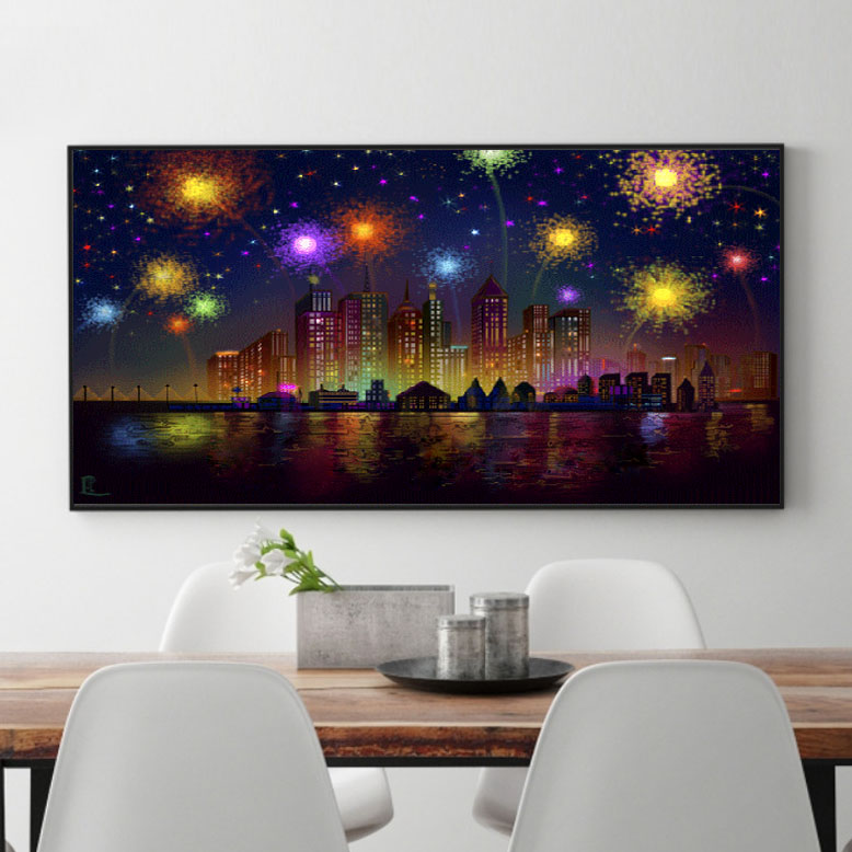 New Diy Diamond Painting Full Diamond Embroidery Beautiful Scenery Of Fireworks Diamond Mosaic Cross Stitch Diy Diamond Painting in Diamond Painting Cross Stitch from Home Garden