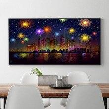New Diy Diamond Painting Full Embroidery Beautiful Scenery Of Fireworks Mosaic Cross Stitch