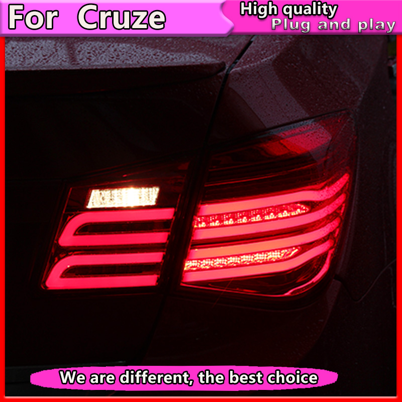 Car Styling for Cruze Taillights 2009-2014 Cruze LED Tail Lamp GLK Rear Lamp DRL+Turn Signal+Brake+Reverse automobile Accessorie