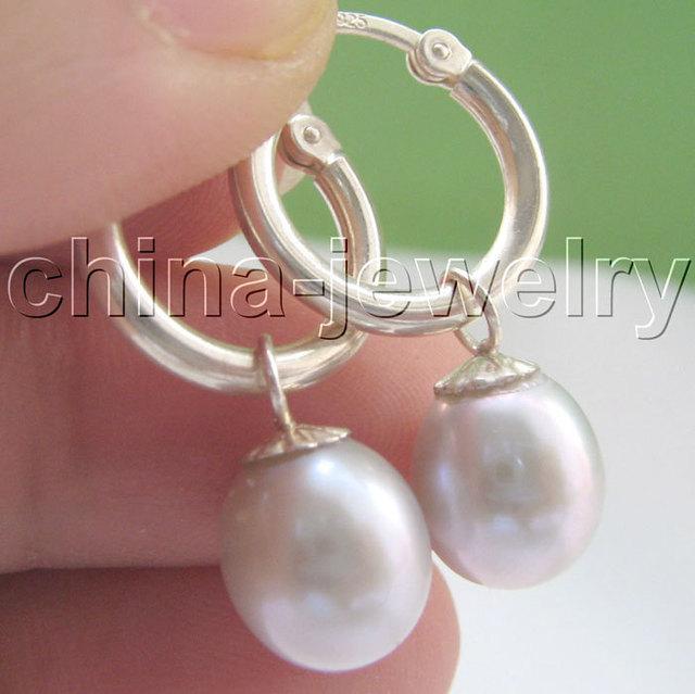 Brillantísimo 11 mm natural gris barroco de la perla 925