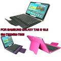 Cuero Del Teclado inalámbrico Bluetooth Caso de la Cubierta del soporte para Samsung Galaxy Tab 10.5 S SM-T800/SM-T805
