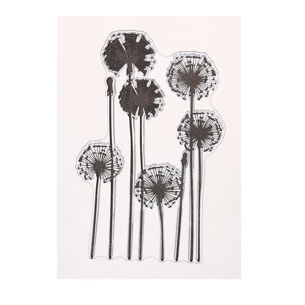 Eco-friendly Dandelion Stamp Silicone Transparent Stamp Cute Clear Seal For DIY Scrapbooking Card Making Photo Album Decoration lovely animals and ballon design transparent clear silicone stamp for diy scrapbooking photo album clear stamp cl 278