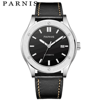 Parnis Mechanical Watches Mens Diver Automatic Watch Clock Sapphire Crystal 5atm Waterproof Luxury montre homme 2018