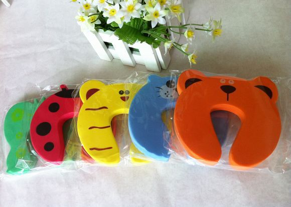 5pcs Door Stopper Animal Baby Security Card Protection For Children Tools Child & Baby Safety Gate Products Care