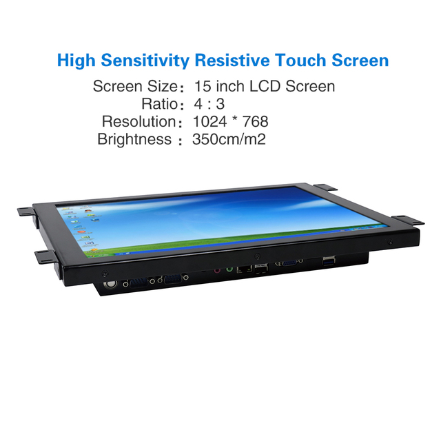 Yanling Factory Core i5 4200u all in one computer with 15'' LCD Resistive Touchscreen Panel PC Support LVDS VGA HDMI Display 2