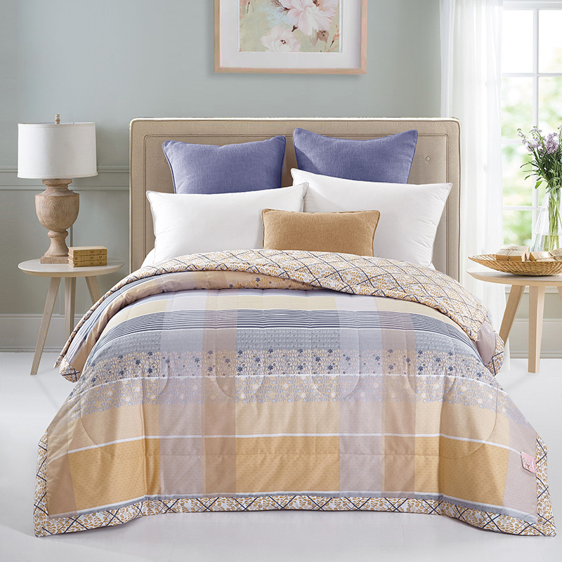 Arnigu brief style 100% Cotton Fabric thin comforter Single Double bed quilting Quilt Duvet <font><b>sofa</b></font> Throw blanket Twin Queen size
