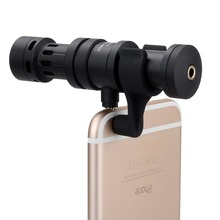 COMICA CVM-VS08 Cardioid Directional Condenser Video Microphone for iPhone Smartphone with Windscreen Wind Muff