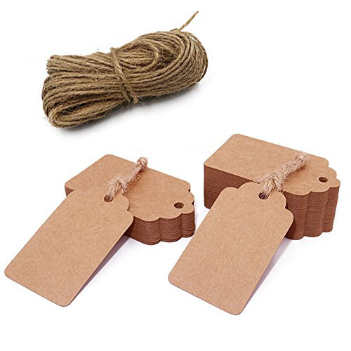100pcs Brown Kraft Paper Tags For Wedding Or Party Decoration Gift Tags And Packaging Hang Tags Is Customized DIY Labels