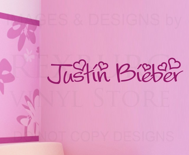 Wall Decal Quote Sticker Vinyl Art Lettering Letter Decoration Justin Bieber Part 79
