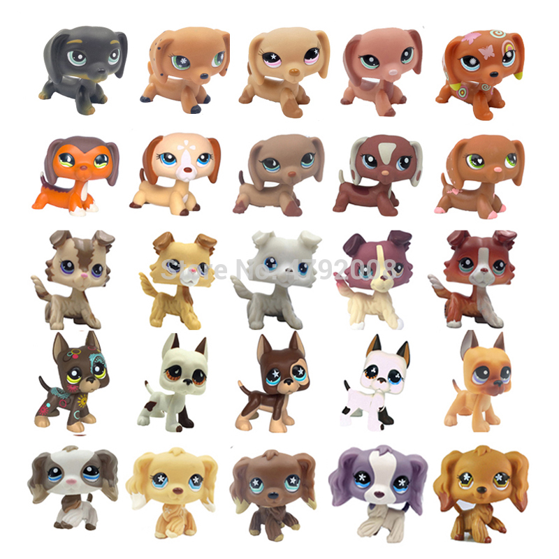 Toys & Hobbies Pet Shop Lps Toy Dog Collection Standing Short Hair Cat Cocker Spaniel Collie Dachshund Great Dane Pink Animal Child For Gifts