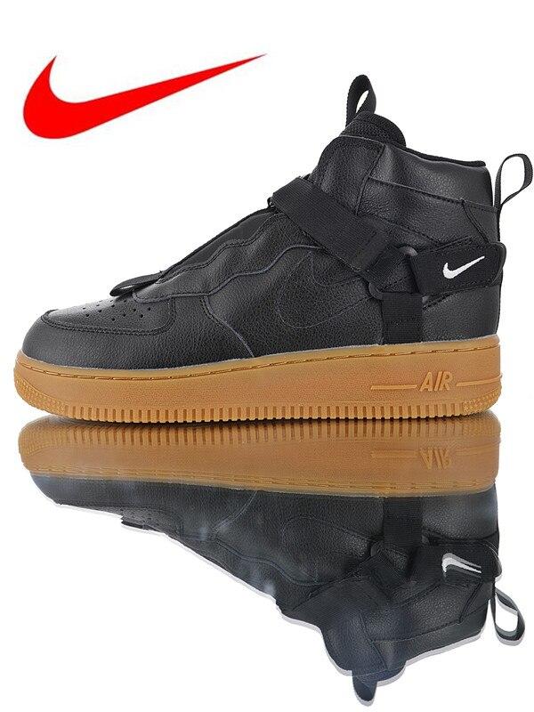 on sale a0373 45487 Nike Air Force 1 Utility Mid Strap Men s Skateboarding Shoes, Original  Breathable Shock Absorbing Non-slip Wear-resistant AV8247