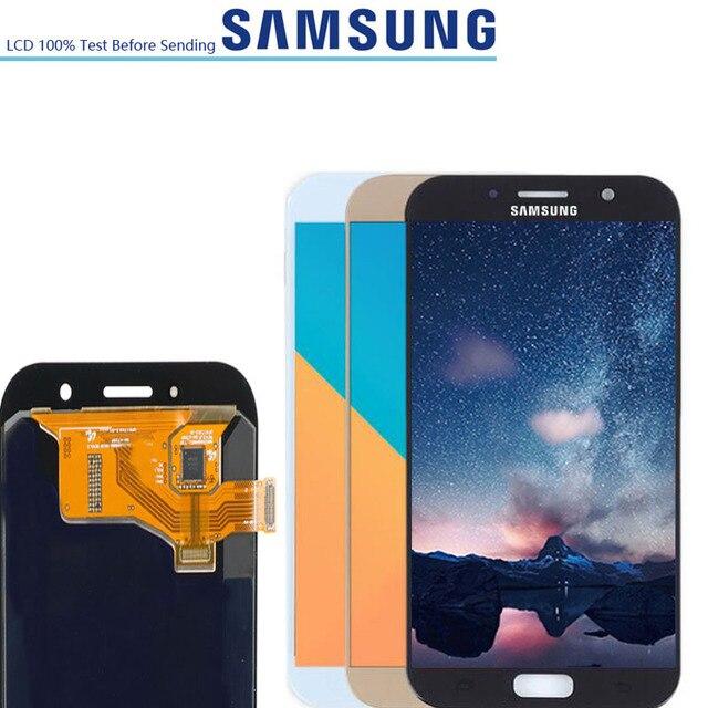 5.7 ORIGINALE LCD Display Touch Digitizer Assembly Per Samsung Glaxy A7 2017 A720 A720F A720M A720FD LCD di Ricambio Dello Schermo